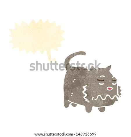 retro cartoon,farting cat - stock photo