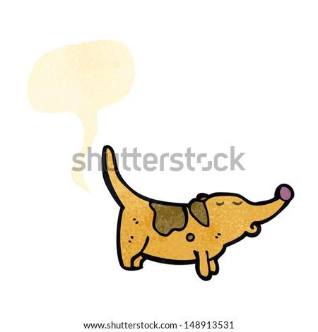 retro cartoon farting dog - stock photo