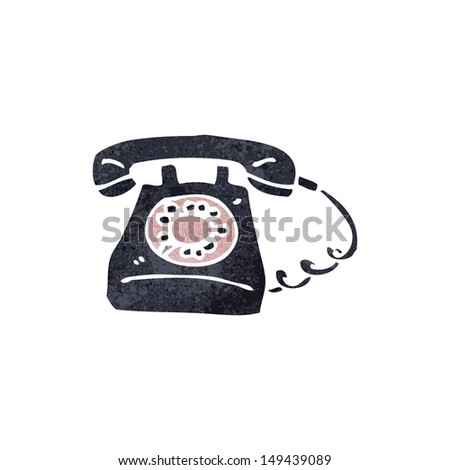 retro cartoon telephone