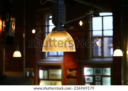 Retro Ceiling Lamp - stock photo