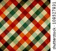 Retro checkered tablecloth seamless pattern background. - stock photo
