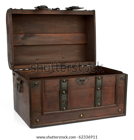Retro chest - stock photo