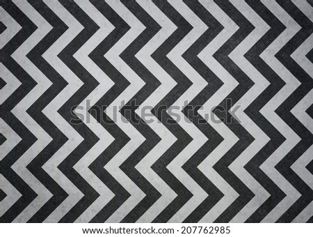 retro chevron background, black stripes on white background with old vintage grunge background texture, vintage zigzag background pattern design  - stock photo