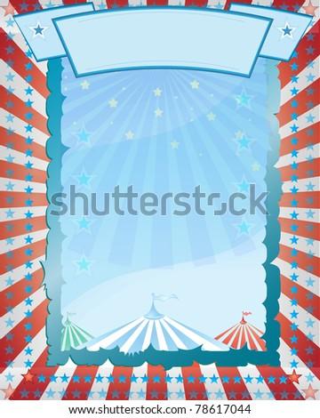 Retro circus poster illustration - stock photo