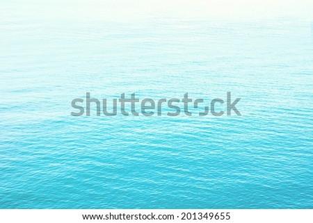 retro Clear blue sea  - stock photo