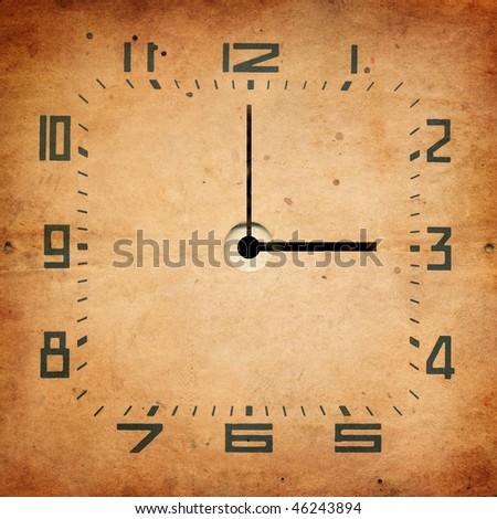 retro clock - stock photo