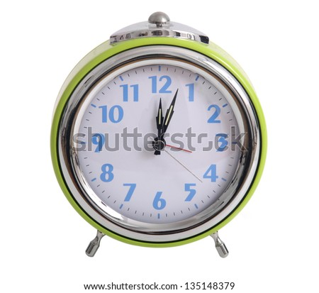 retro clock isolated on white