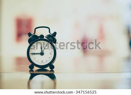 Retro clock style vintage - stock photo