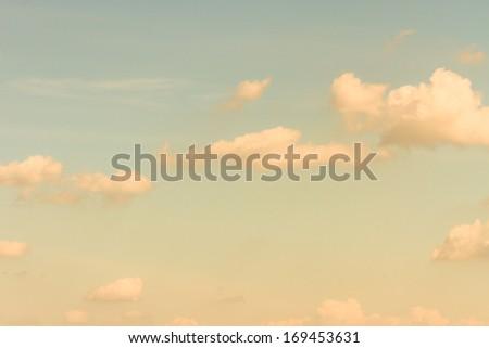 retro cloud and sky - stock photo