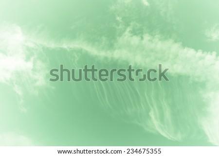 Retro cloud and sky. - stock photo