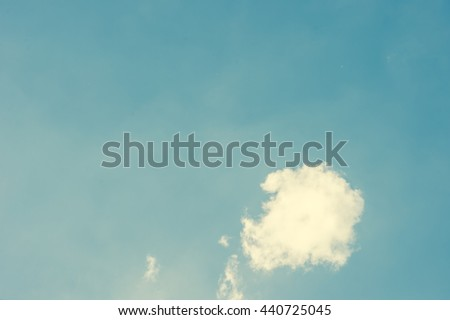 Retro clouds and sky - stock photo