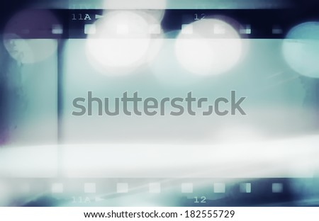 retro color film strip background and texture - stock photo