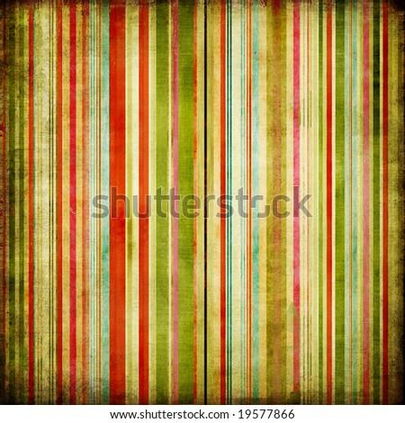 retro colored striped background - stock photo