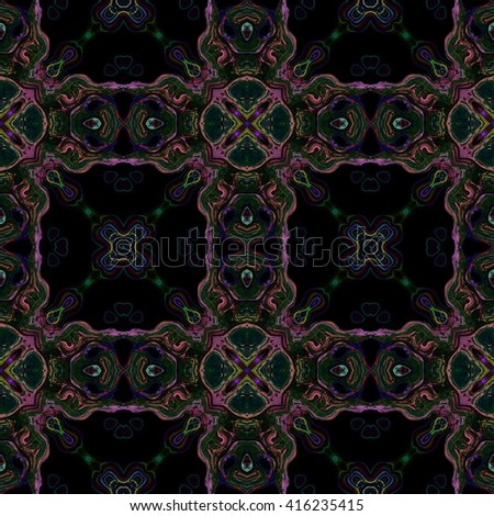 Retro dark historical palace seamless tile fashion able or wallpaper - stock photo