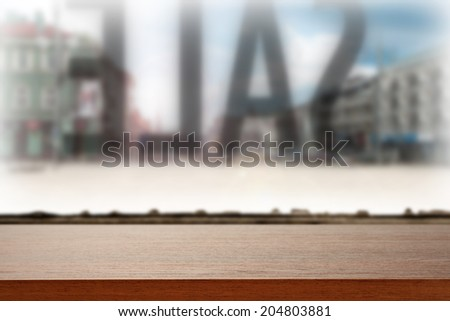 retro desk of sale  - stock photo