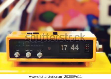 Retro digital flip clock  - stock photo