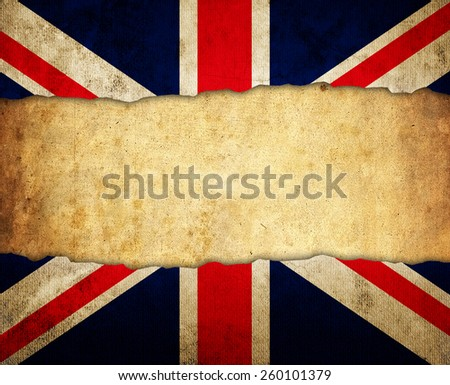 retro England flag - stock photo