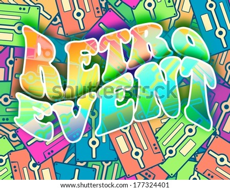 Retro event concept. Vintage poster design - stock photo