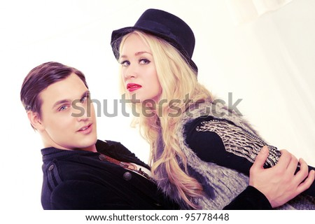 Retro fashion couple