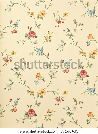 Retro floral background