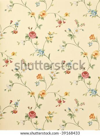 Retro floral background - stock photo