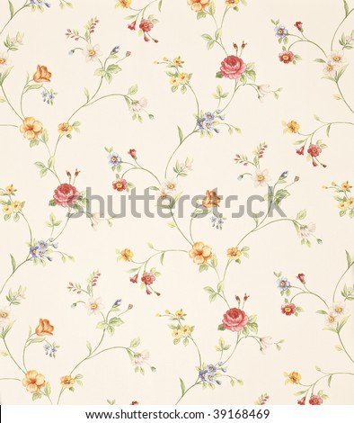 Retro floral background - stock photo