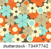 Retro floral seamless pattern - for vector see image no. 64625863 - stock vector
