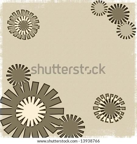 Retro Flowers Grunge - stock photo
