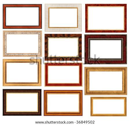 Retro frames on a white background - stock photo