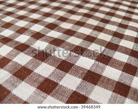 Retro gingham closeup. More of this motif & more textiles in my port. - stock photo