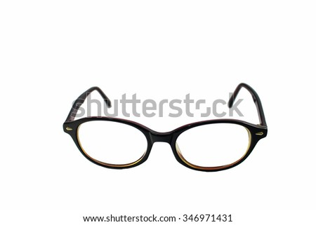 Retro glasses isolated on a white.