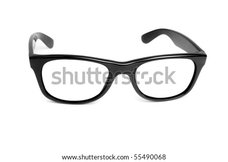 Retro glasses isolated on a white - stock photo