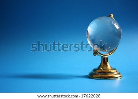 Retro globe, with copy-space isolated on color background - stock photo