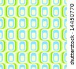 Retro green blue seamless pattern, tiles in any direction. - stock photo