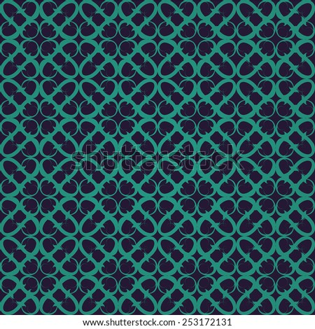 Retro green violet ornate seamless background, raster version - stock photo