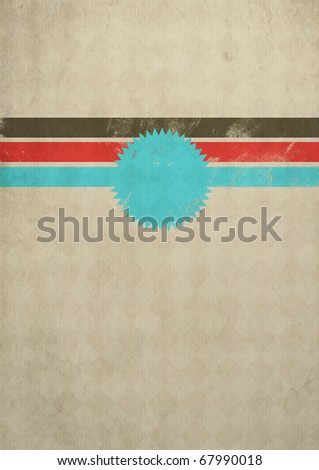 Retro grunge poster for your text - stock photo
