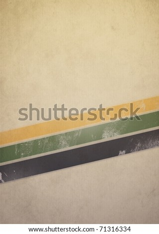 Retro grunge poster with space for your text - stock photo