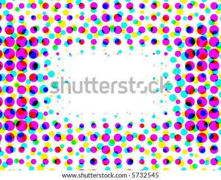 Retro halftone dots with copyspace - stock photo