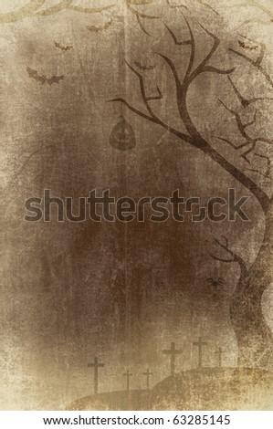 retro halloween background - stock photo