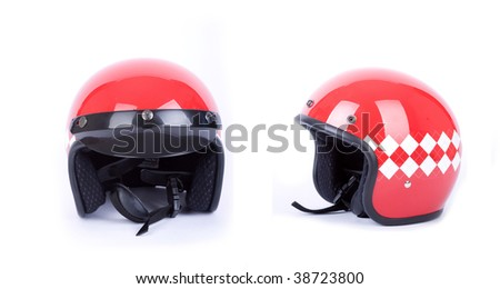 retro helmets - stock photo
