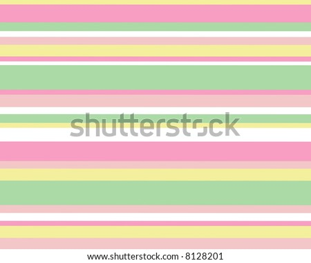 Retro horizontal pastel striped background