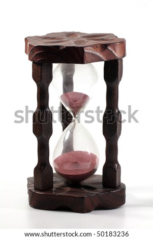 retro hourglass isolated on white background, time