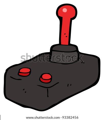 retro joystick cartoon - stock photo
