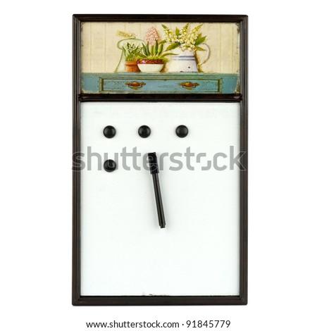 Retro magnetic board - stock photo