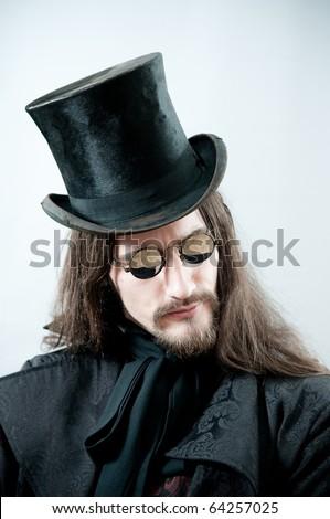 Retro man portrait - stock photo