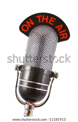 Retro Microphone - stock photo