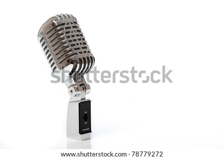 Retro Microphone isolated against white