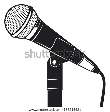 retro microphone with stand