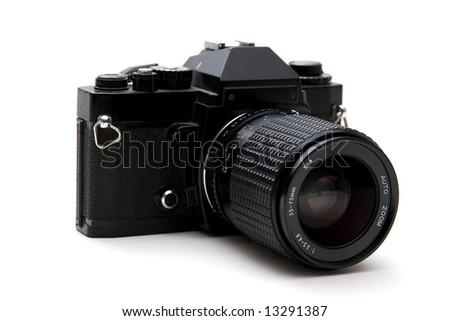 Retro 35mm Film Camera - stock photo