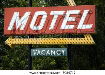 Retro Motel Sign - stock photo